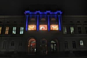 Außenfassade des Staatl. Museums Karlsruhe, V.Griener (SMNK)