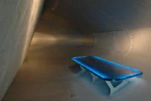 LED-lichtinszenierte Glas-Sitzbank
